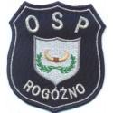 Emblemat OSP z indywidualnym motywem i nazwą miejscowości