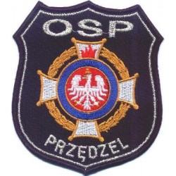 Emblemat OSP z logo ZOSP i nazwą miejscowości
