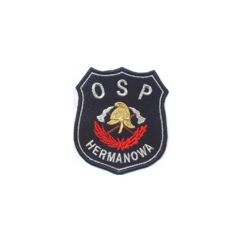 Emblemat OSP z typowym motywem i nazwą miejscowości