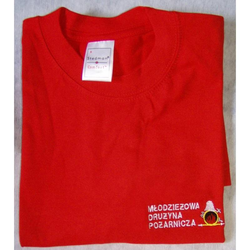 T-shirt z haftowanym logo MDP