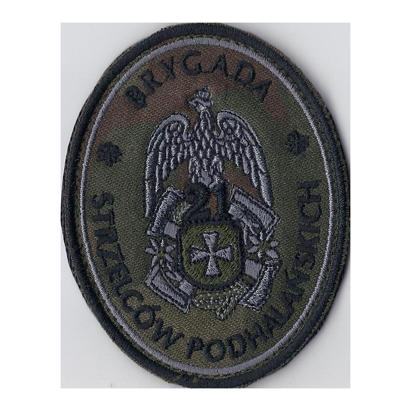Emblemat 21 BSP maskowany