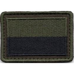 Oznaka przynależności państwowej na mundur polowy - flaga oliwkowo czarna