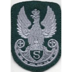 Orzeł strzelecki na zielony beret - szary