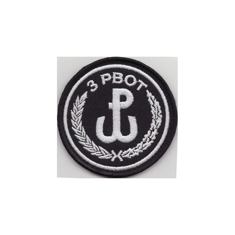 Emblemat 3 Podkarpackiej Brygady Obrony Terytorialnej na mundur galowy i wyjściowy (wg systemowego projektu)