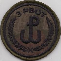 Emblemat 3 Podkarpackiej Brygady Obrony Terytorialnej na mundur polowy (wg systemowego projektu)
