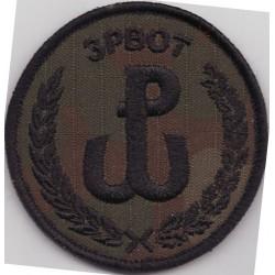Emblemat 3 PBOT na mundur polowy (wg załącznika do Decyzji Nr77/MON z 10.05.2019 r.)