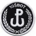 Emblemat 10 ŚBOT na mundur galowy i wyjściowy (wg załącznika do Decyzji Nr77/MON z 10.05.2019 r.)