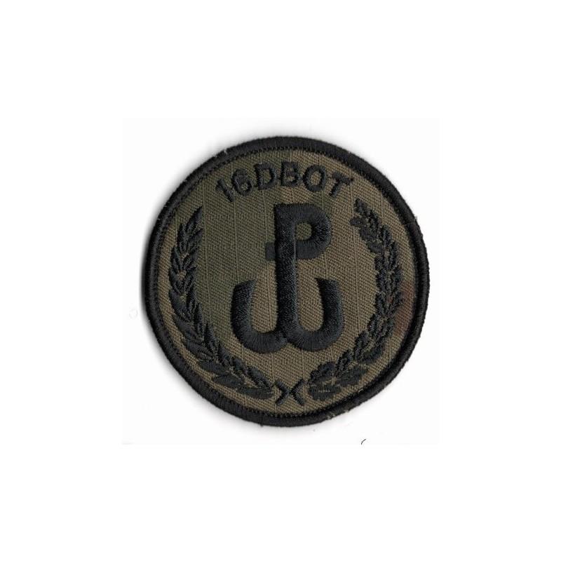 Emblemat 16 DBOT na mundur polowy (wg załącznika do Decyzji Nr77/MON z 10.05.2019 r.)