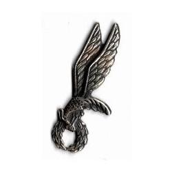 Metalowa miniaturka odznaki skoczka spadochronowego (gapa)