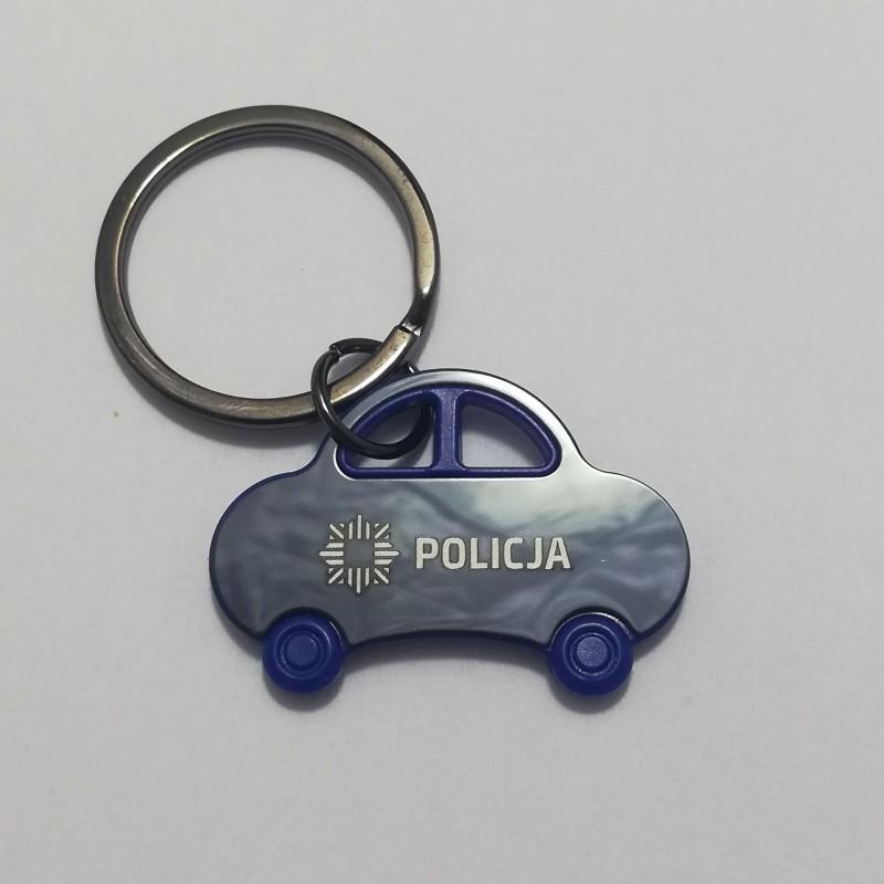 Brelok auto Policja (niebieskie)
