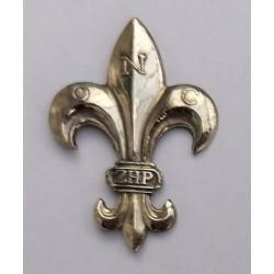 Lilijka ZHP srebrna mocowana na pinsy