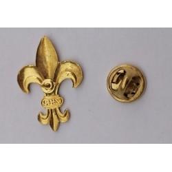 Lilijka ZHP złota mocowana pinsy