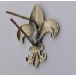 Lilijka ZHR srebrna mocowana na druciki