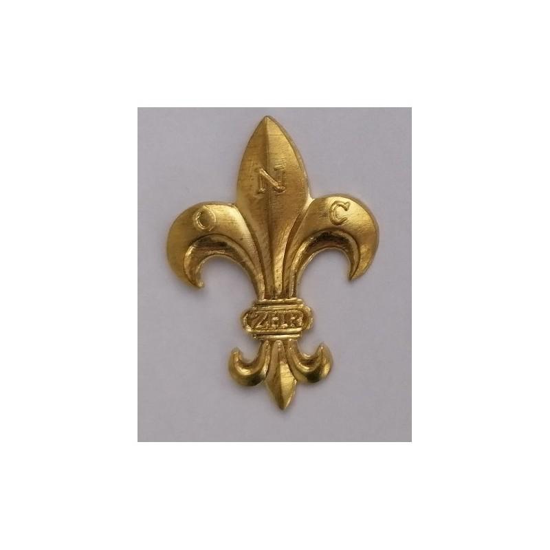 Lilijka ZHR złota mocowana pinsy