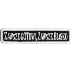 Emblemat ZAWSZE GOTOWI,...