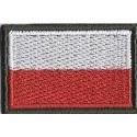Flaga ZS biało-czerwona (40x25 mm)